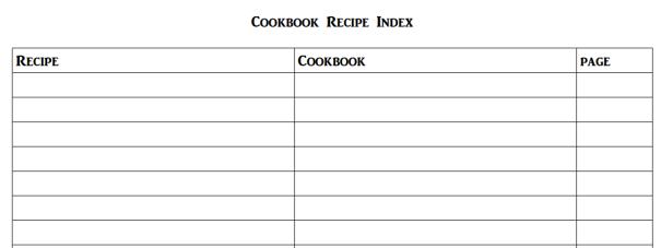 CookBookRecipeIndex