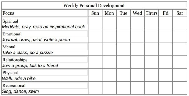 WeeklyPersonalDevelopment