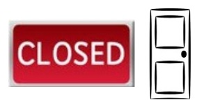 Closedsign&door